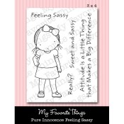 FEELING SASSY Clear Stamp Set Pure Innocence Collection from My Favorite Things MFT Stamps