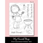 GRILLIN' GIRL Clear Stamp Set Pure Innocence Collection from My Favorite Things MFT Stamps