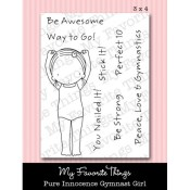 GYMNAST GIRL Clear Stamp Set Pure Innocence Collection from My Favorite Things MFT Stamps