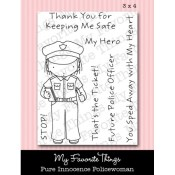 POLICEWOMAN Clear Stamp Set Pure Innocence Collection from My Favorite Things MFT Stamps
