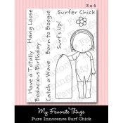 SURF CHICK Clear Stamp Set Pure Innocence Collection from My Favorite Things MFT Stamps