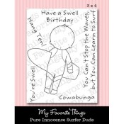 SURFER DUDE Clear Stamp Set Pure Innocence Collection from My Favorite Things MFT Stamps