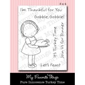 TURKEY TIME Clear Stamp Set Pure Innocence Collection from My Favorite Things MFT Stamps