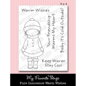 WARM WISHES Clear Stamp Set Pure Innocence Collection from My Favorite Things MFT Stamps