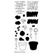 SPRING HAS SPRUNG Clear Stamp Set Sunny Day Doodles Collection from My Favorite Things MFT Stamps