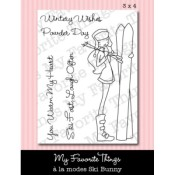 Retiring SKI BUNNY Clear Stamp Set A La Modes Collection from My Favorite Things MFT Stamps