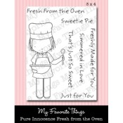 FRESH FROM THE OVEN Clear Stamp Set Pure Innocence Collection from My Favorite Things MFT Stamps
