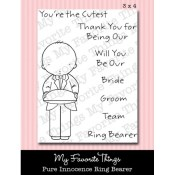 RING BEARER Clear Stamp Set Pure Innocence Collection from My Favorite Things MFT Stamps