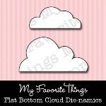 DIE-NAMICS FLAT BOTTOM CLOUDS DIE from My Favorite Things MFT Stamps