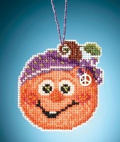 Mill Hill Kit - HIPPIE PUMPKIN Painted Pumpkins Charmed Ornaments