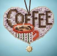 Mill Hill Kit - LOVE COFFEE - I Love Charmed Ornaments Series