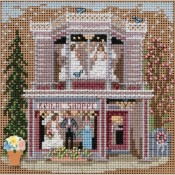 MAIN STREET BRIDAL SHOPPE Spring Buttons & Beads Counted Cross Stitch Kit from Mill Hill