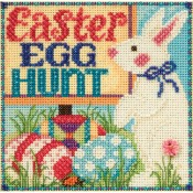 EGG HUNT Spring Buttons & Beads Counted Cross Stitch Kit from Mill Hill