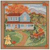 HARVEST HOME Autumn Buttons & Beads Counted Cross Stitch Kit from Mill Hill