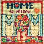 MOM Spring Buttons & Beads Counted Cross Stitch Kit from Mill Hill