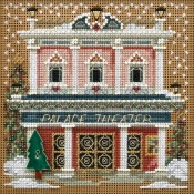 PALACE THEATER Winter Buttons & Beads Counted Cross Stitch Kit from Mill Hill