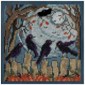 RAVENS Autumn Buttons & Beads Counted Cross Stitch Kit from Mill Hill