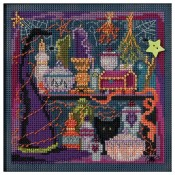 WANDA'S WITCHERY Autumn Buttons & Beads Counted Cross Stitch Kit from Mill Hill