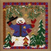 WINTER WHIMSEY Winter Buttons & Beads Counted Cross Stitch Kit from Mill Hill