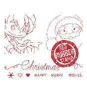 SANTA TAG TOPS Rubber Stamp Set from Make It Crafty