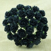 **PREORDER** Wild Orchid Crafts JET BLACK MULBERRY PAPER OPEN ROSES