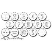 DIE-NAMICS NEGATIVE DOT NUMBERS DIE SET from My Favorite Things MFT Stamps