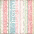 INSPIRE 12 x 12 Scrapbook Patterned Paper Breast Cancer Collection from Melissa Frances