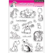 CRITTER PARTY Clear Stamp Set from Penny Black
