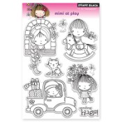 MIMI AT PLAY Clear Stamp Set from Penny Black