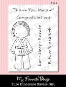 KARATE GIRL Clear Stamp Set Pure Innocence Collection from My Favorite Things MFT Stamps