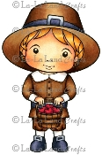 PILGRIM LUKA Rubber Stamp from La-La Land Crafts