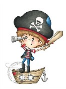 PIRATE ADVENTURE Rubber Stamp from A Random Fan