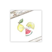 New! PINK FRUITS Cling Rubber Stamp Pink Lemonade Collection from Magnolia