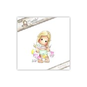 New! SUMMER TILDA WITH FLAGS Cling Rubber Stamp Pink Lemonade Collection from Magnolia