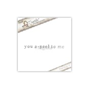 New! YOU A-PEEL TO ME Cling Rubber Stamp Pink Lemonade Collection from Magnolia