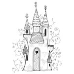PRINCESS CASTLE Stickable Rubber Stamp from Great Impressions