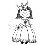 PRINCESS MOLLY Stickable Rubber Stamp from Great Impressions