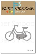 New! BICYCLE Die from Paper Smooches