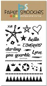 New! SILVER & GOLD Clear Stamp Set from Paper Smooches