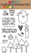 WARM HEARTS Clear Stamp Set from Paper Smooches