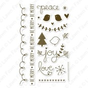 PEACE JOY LOVE Clear Stamp Set from Lawn Fawn