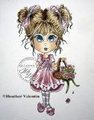 Heather Valentin's PETALS Rubber Stamp Lacy Sunshine Collection from Sweet Pea Stamps