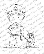 POLICE OFFICER OWEN Rubber Stamp from The Paper Nest Dolls