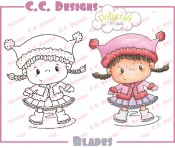 BLADES Rubber Stamp from Pollycraft