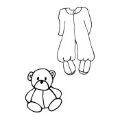 New! BABY JAMMIE SET Mixed Media Doll Cling Stamp Julie Nutting Collection from Prima Marketing