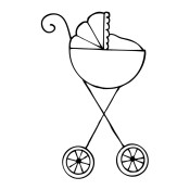New! BABY STROLLER Mixed Media Doll Cling Stamp Julie Nutting Collection from Prima Marketing