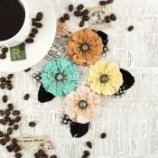 **REORDER** COFFEE BREAK FLOWERS PAPER & FABRIC MACCHIATO Coffee Break Collection from Prima Marketing