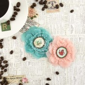 COFFEE BREAK FLOWERS PAPER & FABRIC DECAF Coffee Break Collection from Prima Marketing