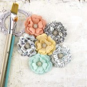 EPIPHANY FLOWERS PAPER VISION Epiphany Collection from Prima Marketing