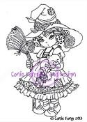 **PREORDER** PRISCILLA Rubber Stamp Conie Fong Collection from Sweet Pea Stamps
